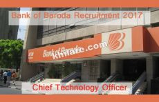 1 Chief Technology Officer Post - Bank of Baroda Recruitment 2017