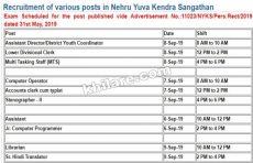 NYKS Various Vacancies Admit Card Download