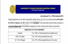 Department of Technical Education and Industrial Training, Government of Punjab
